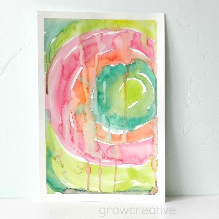 grow creative blog circular abstract watercolor tutorial
