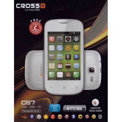 Cross CS7, Handphone Dual SIM TV Analog Touchscreen Kapasitif