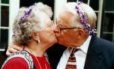 Someone To Grow Old With - old man woman kiss kissing each other romance love romantic