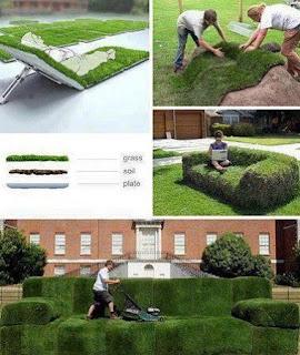 Sillones de Pasto, Muebles Naturales, Ideas Ecologicas para Jardines
