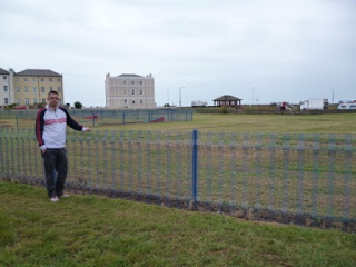 Outside the Putting course in Walton on the Naze