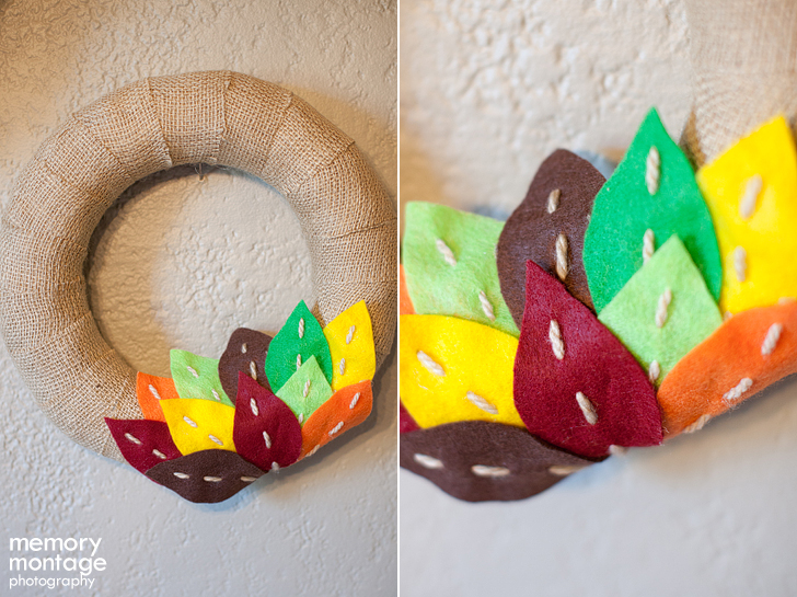 Fall Inspired Leaf Wreath DIY wreath craft art project