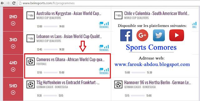 Cha ne t l o voir le match comores ghana 2e tour - Regarder la coupe d afrique en direct ...