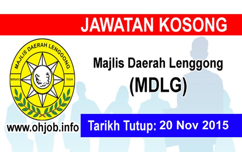 Jawatan Kerja Kosong Majlis Daerah Lenggong (MDLG) logo www.ohjob.info november 2015