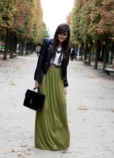 długie spódnice, spódnice, spódnice maxi, długa spódnica, street style
