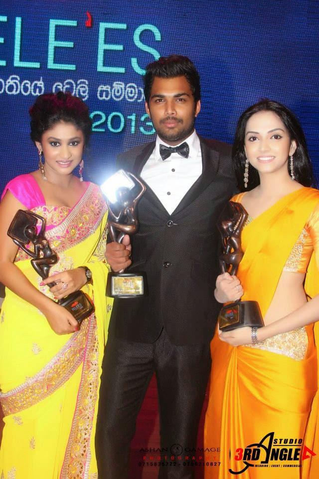Sajana Wanigasuriya at Raigam Tele Awards 2013
