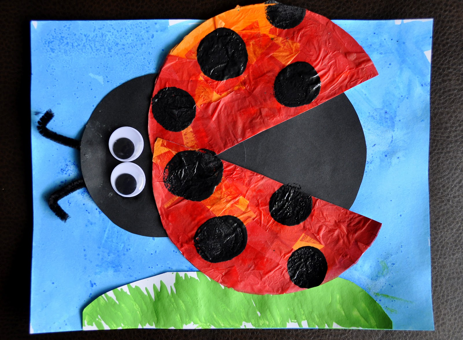 I heart crafty things eric carle inspired lady bug craft for Ladybug arts and crafts