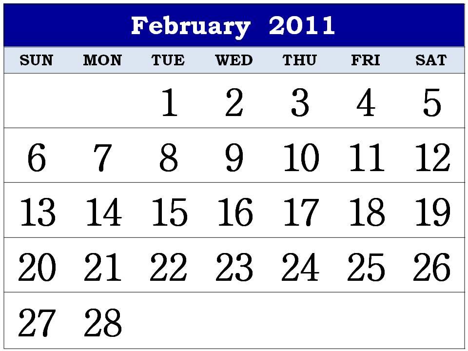 february calendar design