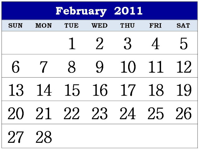 february calendars 2011. Free Homemade Calendar 2011