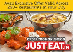 JustEat Online Food Ordering 50% off