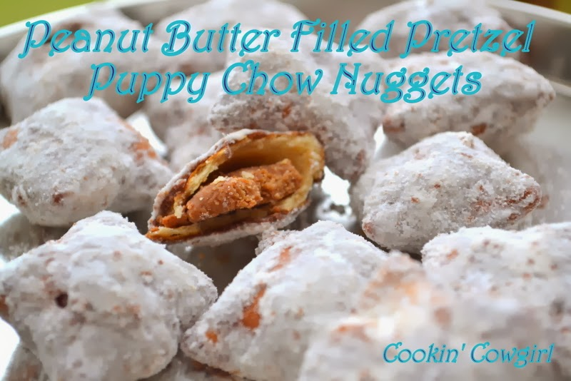 Peanut Butter Filled Pretzel Puppy Chow Nuggets