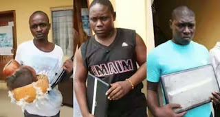 """MAPOLY Undergraduates Display Their """"Juju"""" And Laptops After Arrested For Internet Fraud"""