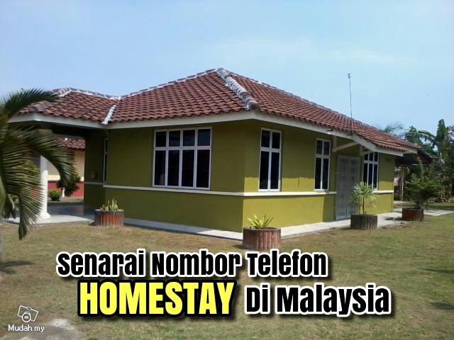 Senarai Nombor Telefon Homestay Di Seluruh Malaysia