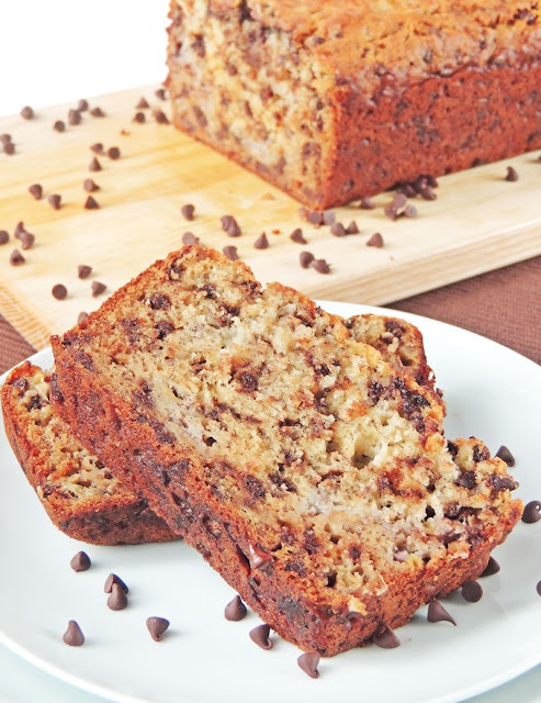 Chocolate Chip Banana Bread - from www.bobbiskozykitchen.com