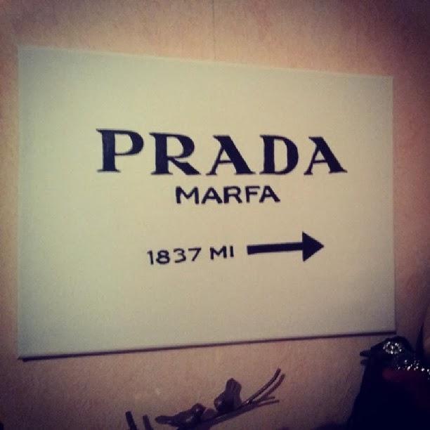 gossip girl prada marfa sign diy another kind of beauty blog. Black Bedroom Furniture Sets. Home Design Ideas