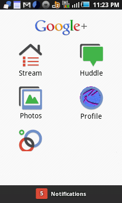Google Plus for mobile android