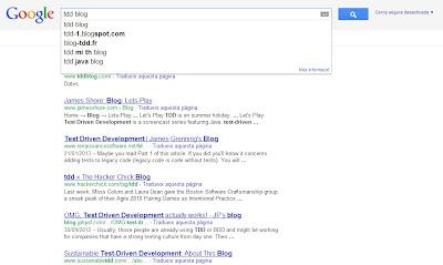 Búsqueda de Google autocompletada: tdd blog