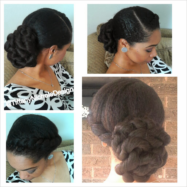 natural hair style- elegant twisted
