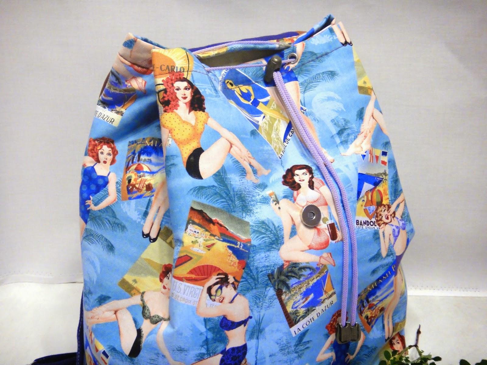 компактный летний рюкзачок для города и отдыха на пляже