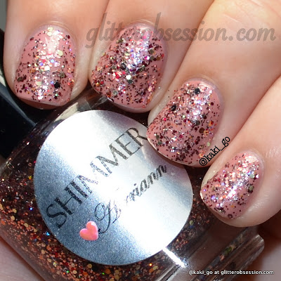 Shimmer Airriann over Essie Eternal Optimist
