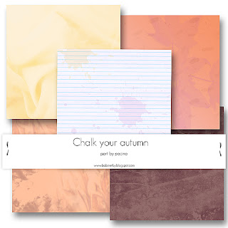 Chalk Your Autmn Collab Kit Papers by Paciny