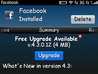Facebook 4.3 cho Blackberry