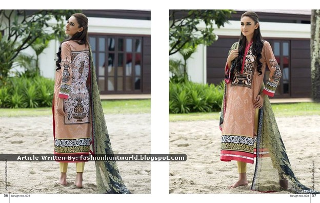 Al-Zohaib Textile - Anaya Embroidered Lawn Series 2015