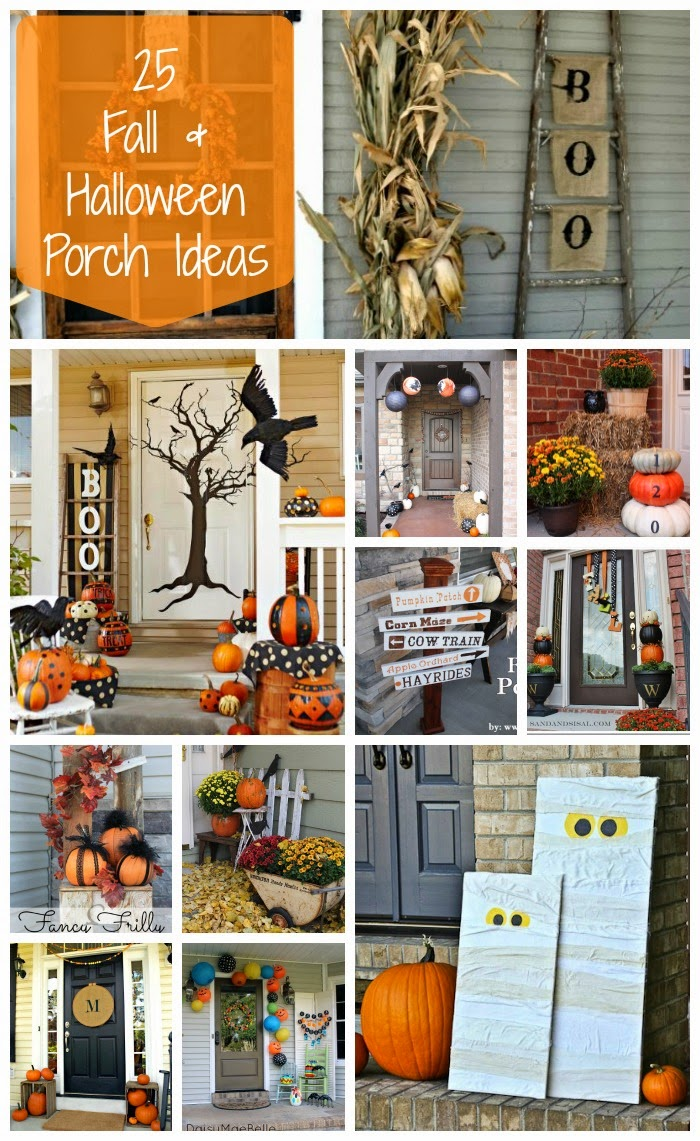 Halloween front porch decorations - All