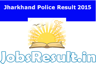 Jharkhand Police Result 2015