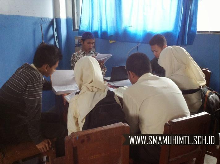 Ujian praktik al quran hari sma muhammadiyah 1 muntilan