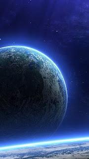 beautiful view of earth via satellite iphone 5 wallpaper