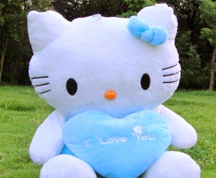 boneka hello kitty pink lucu banget untuk anak