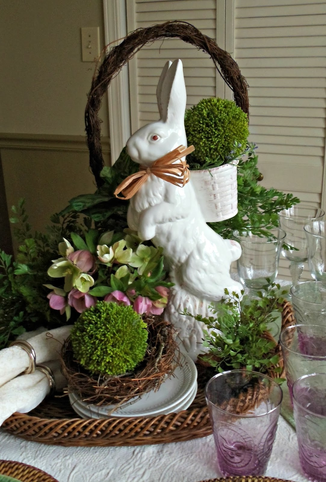 1000 images about easter decorations on pinterest for Decoration de table