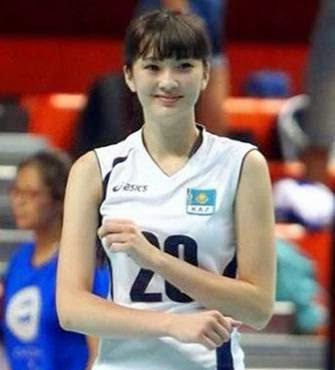 Sabina Altynbekova atlet voli Kazakhstan yang cantik