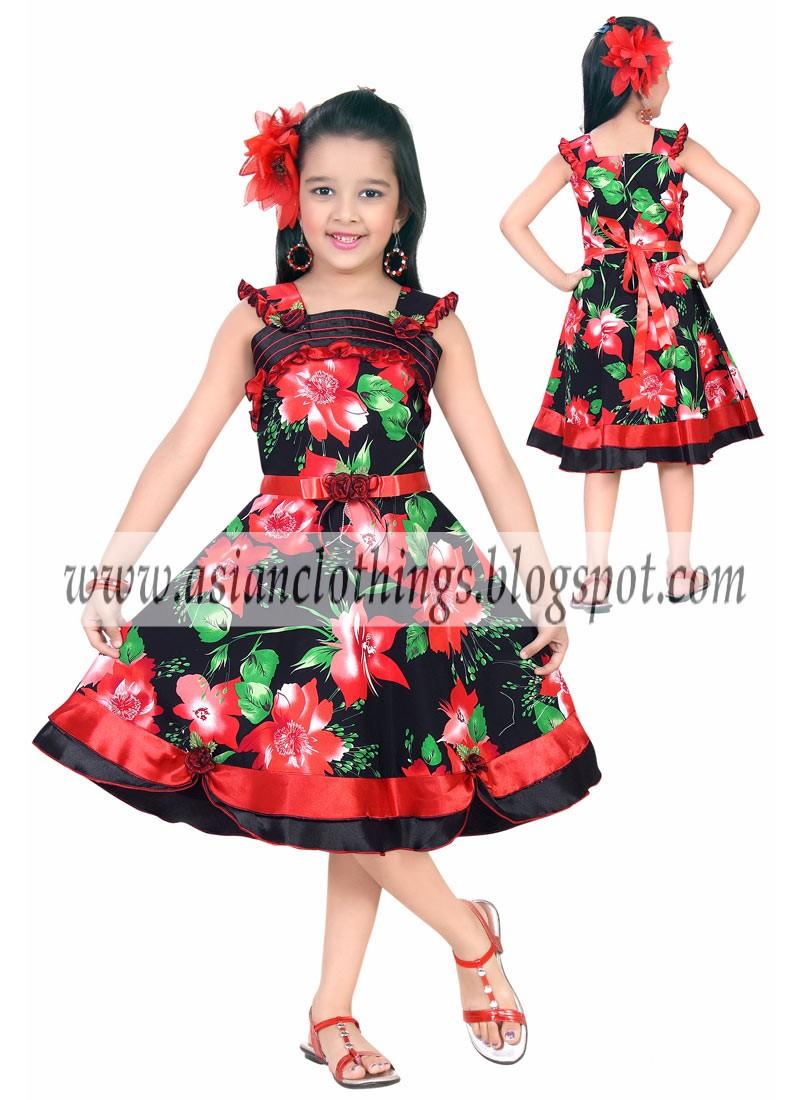 Eid ul fitr girls kids wear 2012 little girls eid frocks dresses
