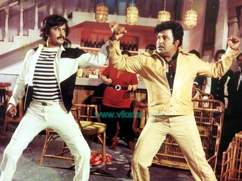 Rajinikanth & Jayshankar in 'Paayum Puli' (1983) Tamil Movie