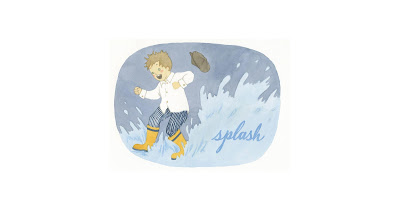 illustration of a child splashing in a puddle