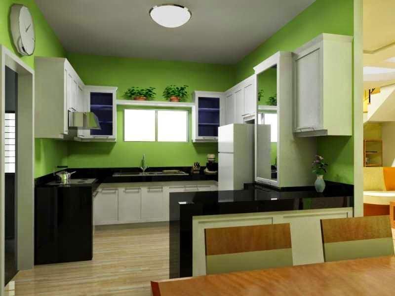Model Desain Interior Dapur Rumah Minimalis Sederhana