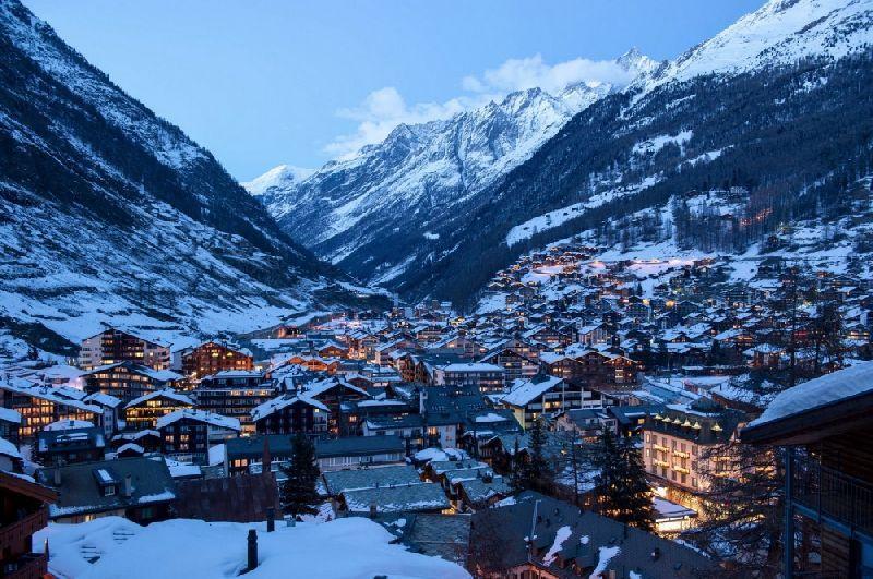 Tiny towns Zermatt, Switzerland