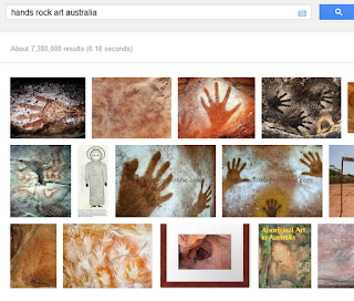 hands in Australian Rock Art