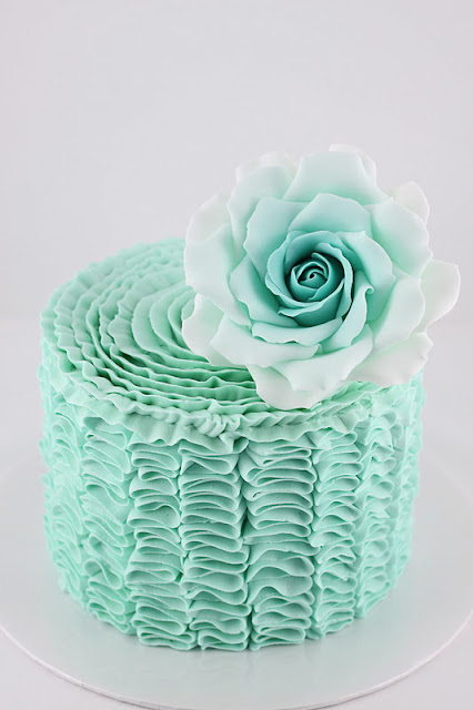 Sweet Art Cakes By Milbre 233 Moments Tiffany Blue Ruffled Cake