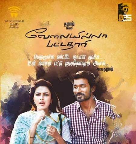 Velaiyilla Pattathari (2014) Lotus DVD Tamil Movie Watch Online