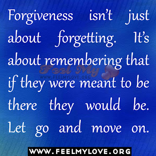 Forgiveness isn't just about forgetting
