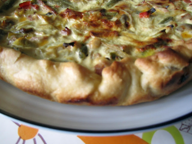 Homemade Quiche - close up