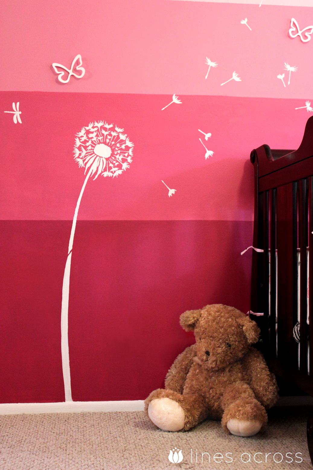 How to paint an ombre accent wall lines across for Painting lines on walls