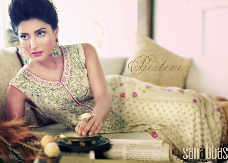 Pakistani Semi Formal Dresses 2014 15 By Sana Abbas Pristine