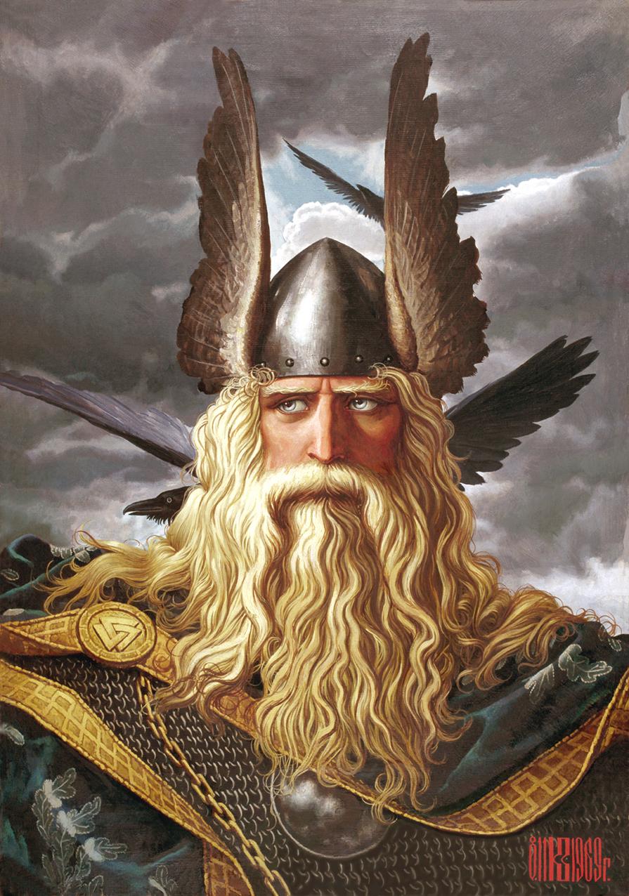 Aventura 2: A ambição de Alberich. Neve vermelha. Odin_Nors_Mythology_by_Javid77