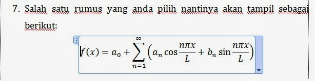cara 3 mengetik equation