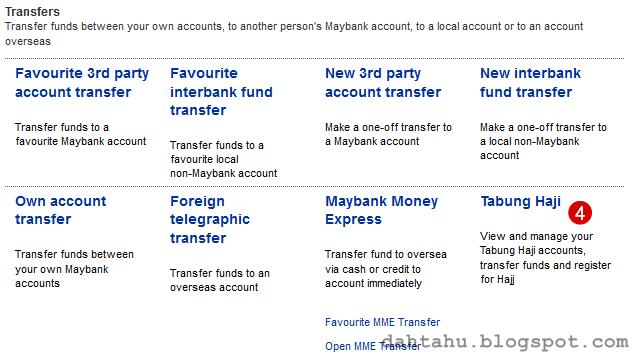 Maybank2u Maybank Transfer ke Tabung Haji 2-4
