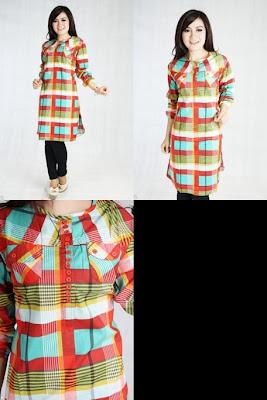 LUNA Blouse Muslim Hijau XXL. Fashion Online